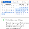 A Unified Calendar Widget for Picking Date Ranges