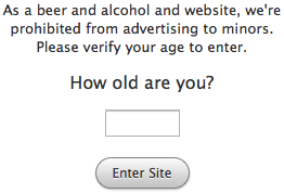 A Simpler and Friendlier Age Verification Page