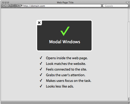 Why Modal Windows Have Killed Popup Windows