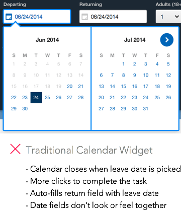 Unified Calendar Widgets Help Users Pick Dates Faster