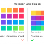 How the Hermann Grid Illusion Affects What Users See