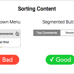 Why Segmented Buttons Are Better for Sorting