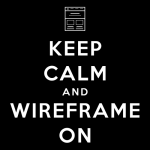 T-Shirt: Keep Calm and Wireframe On