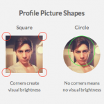 Why Circular Profile Pictures Accentuate Faces
