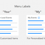 "When to Use ""Your"" or ""My"" on Menu Items"