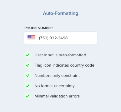 Bad Practices on Phone Number Form Fields