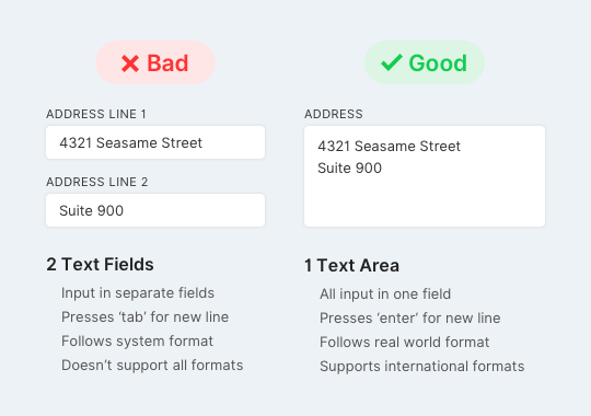 Address Fields Comparison